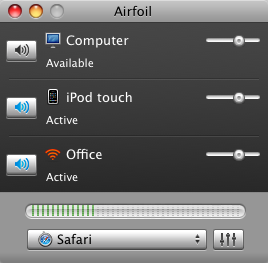 Airfoil detectando el iPhone